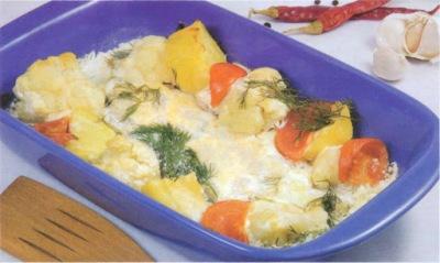 Reţetă culinară: salată de conopidă cu sos de maioneză
